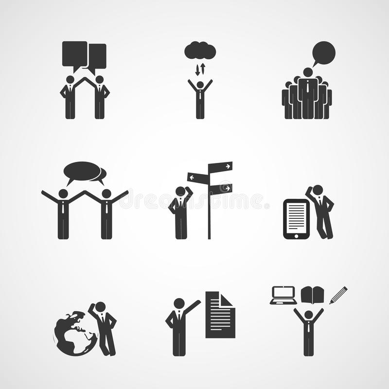 Download Figures, People's Icons - Business Concept Design Stock Vector - Image: 32965807