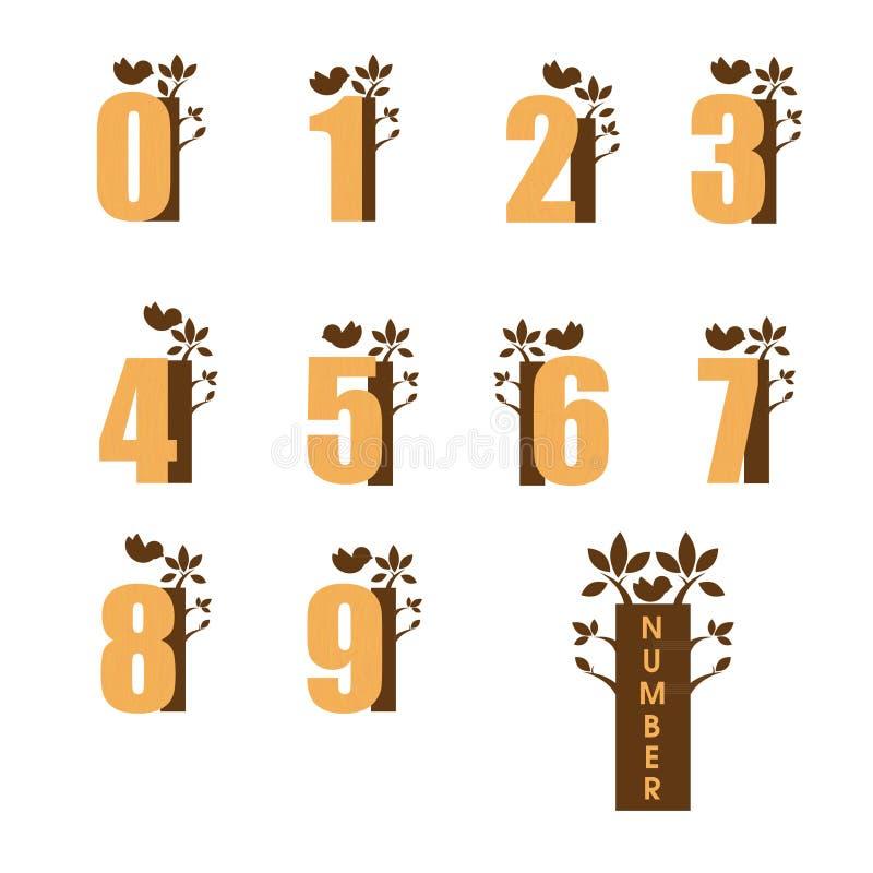 figures trä royaltyfri illustrationer