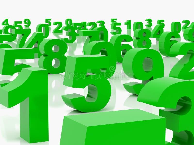 Figures vertes illustration de vecteur