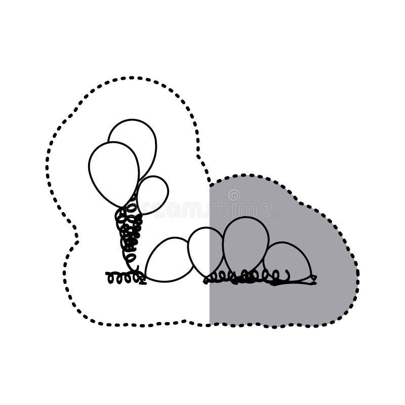 figurez beaucoup icône de ballon illustration libre de droits