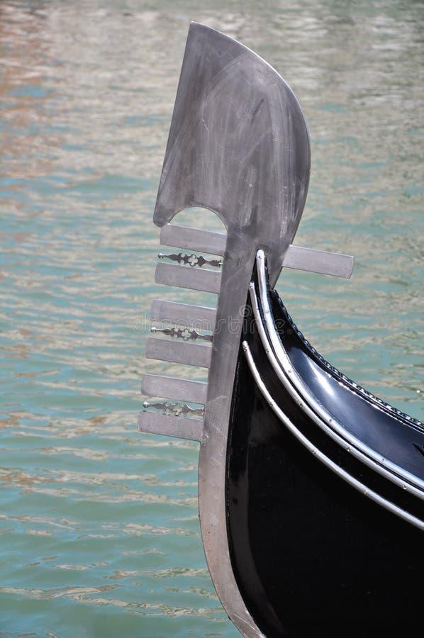 Figurhead di una gondola fotografia stock libera da diritti