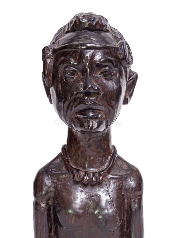 Figurilla tradicional africana del busto del hombre fotografía de archivo