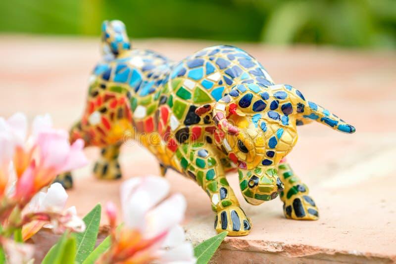 Figurina del toro L'Andalusia, Spagna immagini stock libere da diritti