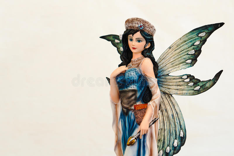 Figurina dell'elfo leggiadramente fotografia stock
