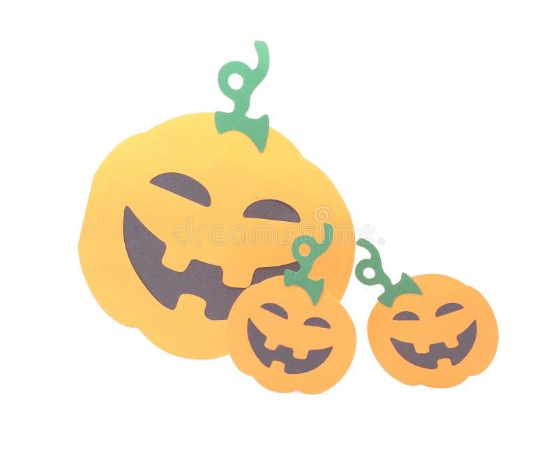 Figurina della zucca di Halloween fotografie stock libere da diritti