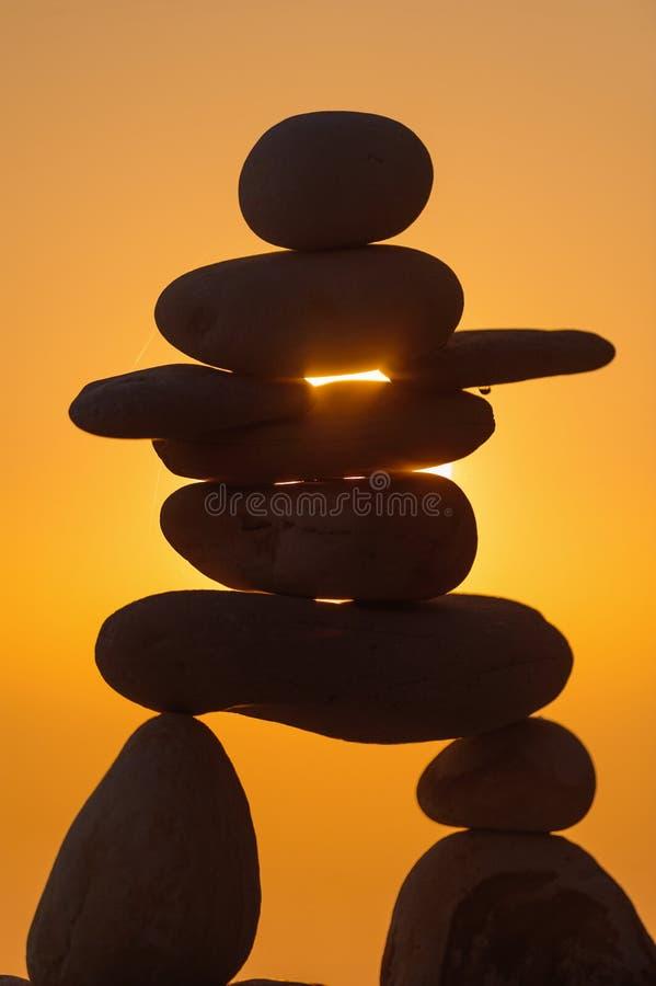 Figurina di pietra di Inukshuk immagine stock