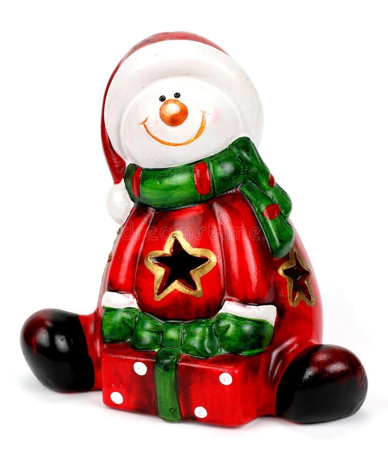 Figurina di Santa Claus isolata sopra fondo bianco fotografia stock libera da diritti