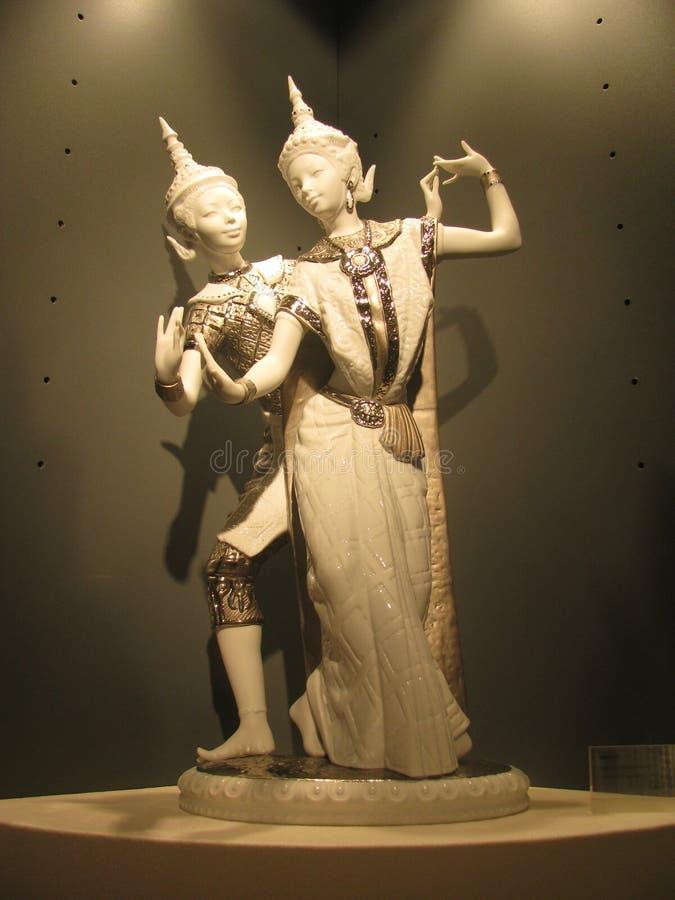 Figurine женщины и человека стоковые фотографии rf