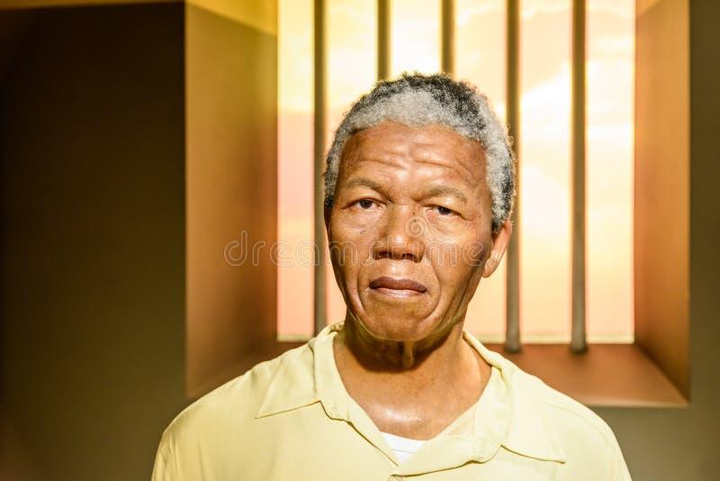 Figurine Нельсона Манделы на Мадам Tussauds Вощи Музее стоковое изображение rf
