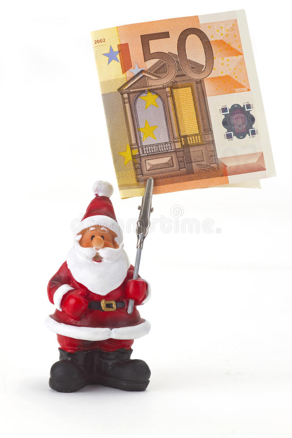 Download Figurine Санта Клауса с евро 50 Стоковое Фото - изображение насчитывающей concept, figurine: 33727838