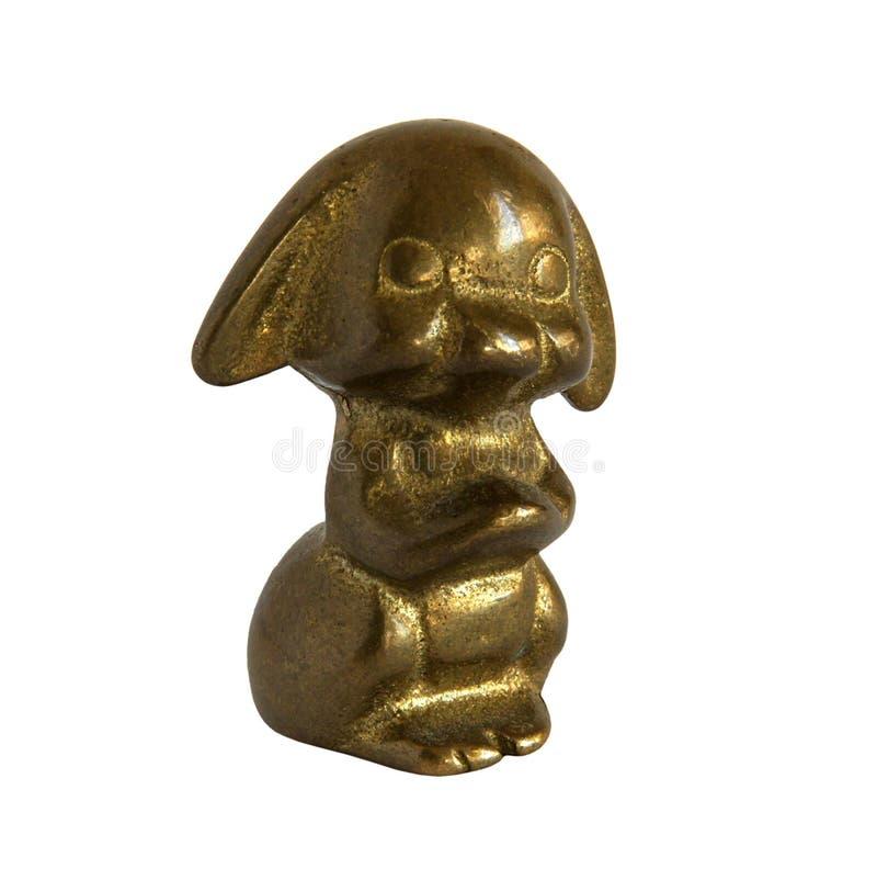 Figurine antique en bronze images libres de droits