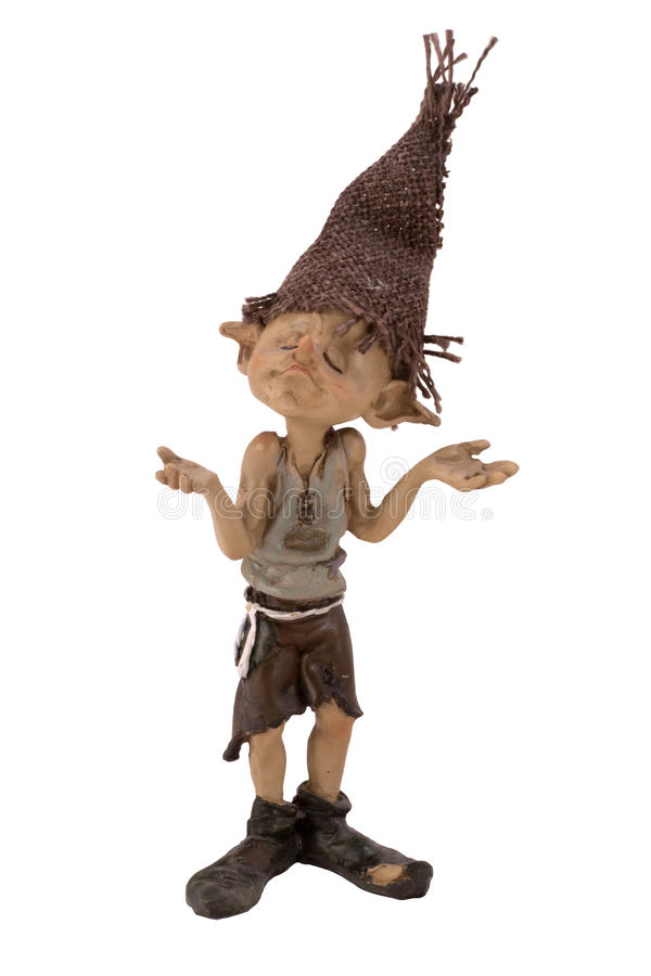 Figurine boy Troll royalty free stock images