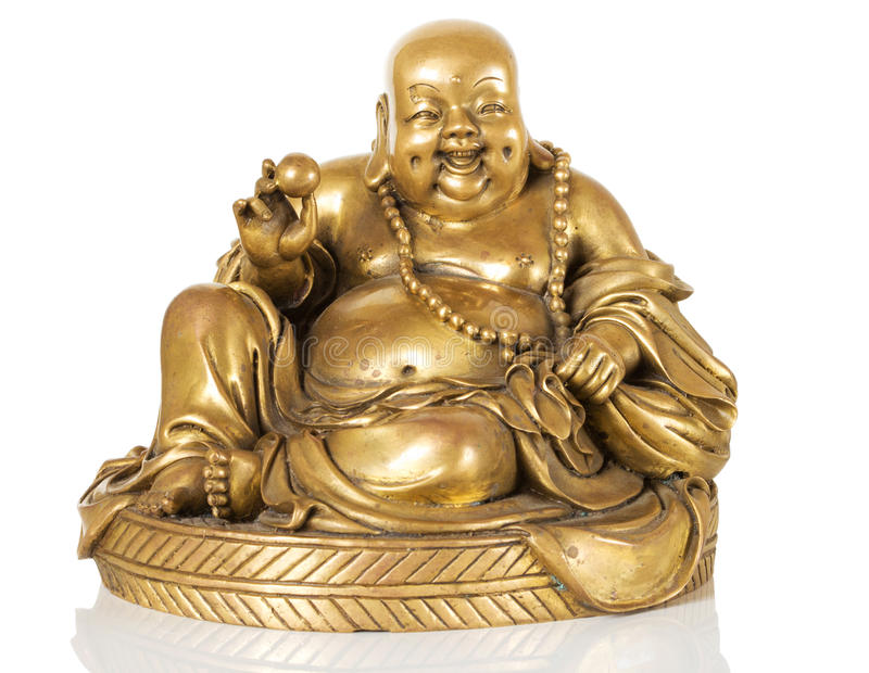 Figurine Cheerful Hotei. Chinese God of Wealth stock photography