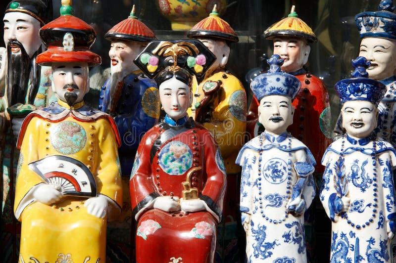 Figurine cinese della porcellana fotografia stock