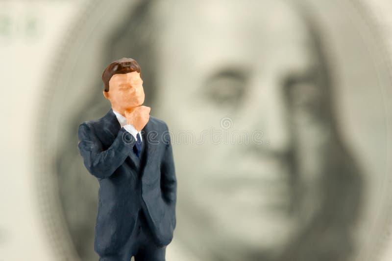 Figurine d'homme d'affaires de sagesse images libres de droits