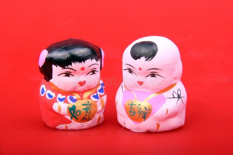 Figurine Da Argila De Beijing Imagens de Stock Royalty Free