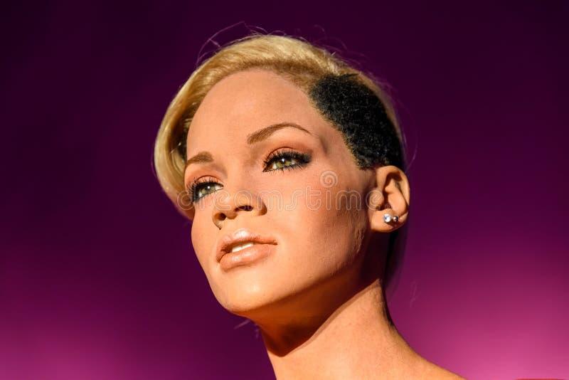Figurine de Rihanna à Madame Tussaud Wax Museum image libre de droits
