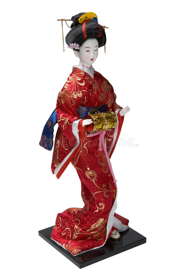 Figurine del geisha della porcellana immagini stock libere da diritti