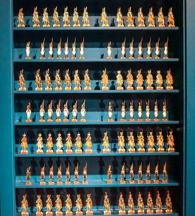 Figurine dell'esercito di millefoglie al museo di MBAM immagine stock