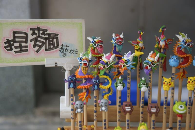 Figurine della pasta immagini stock