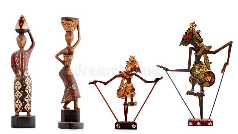 Figurine di legno, figurine decorative, figurina umana, fotografie stock
