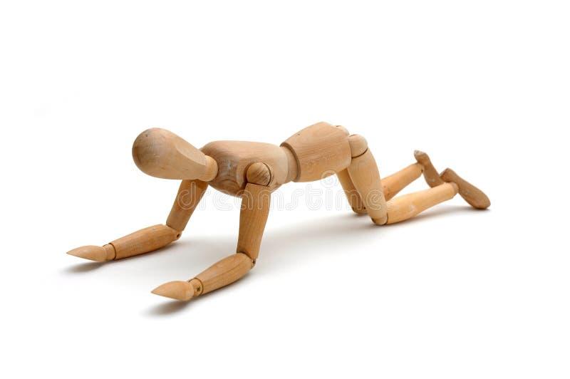 Figurine - genuflessione fotografie stock
