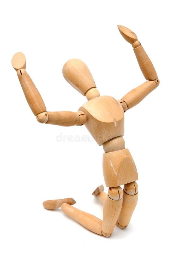 Figurine - genuflessione e gridare fotografia stock