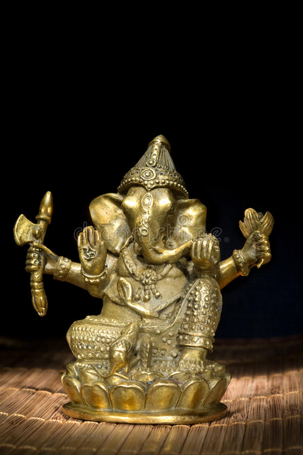 Figurine Idol of Lord Ganesh Blessing Everyone royalty free stock photo