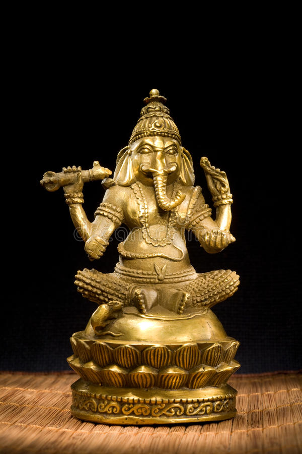 Figurine Idol of Lord Ganesh Blessing Everyone stock photography