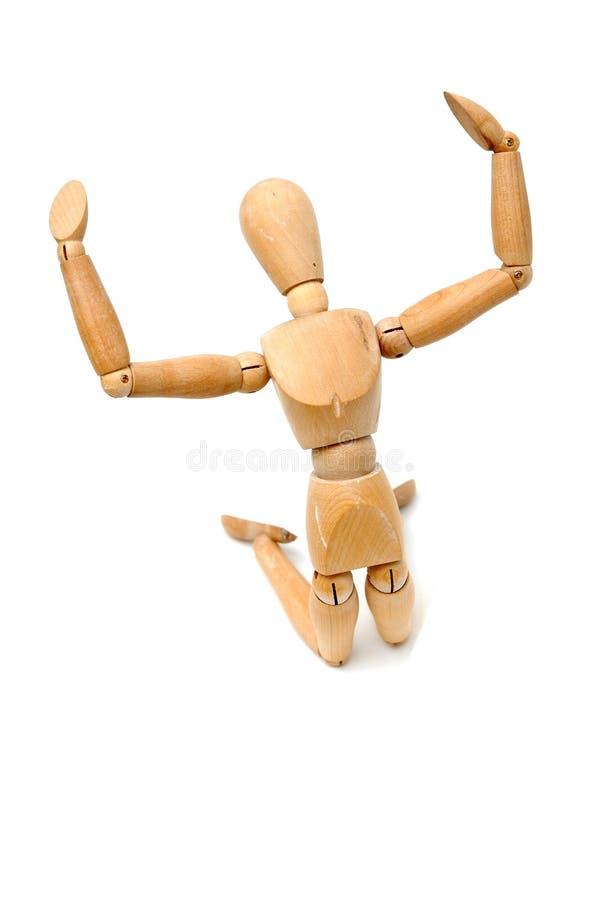 Figurine - Kneel и кричащие 2 стоковое изображение