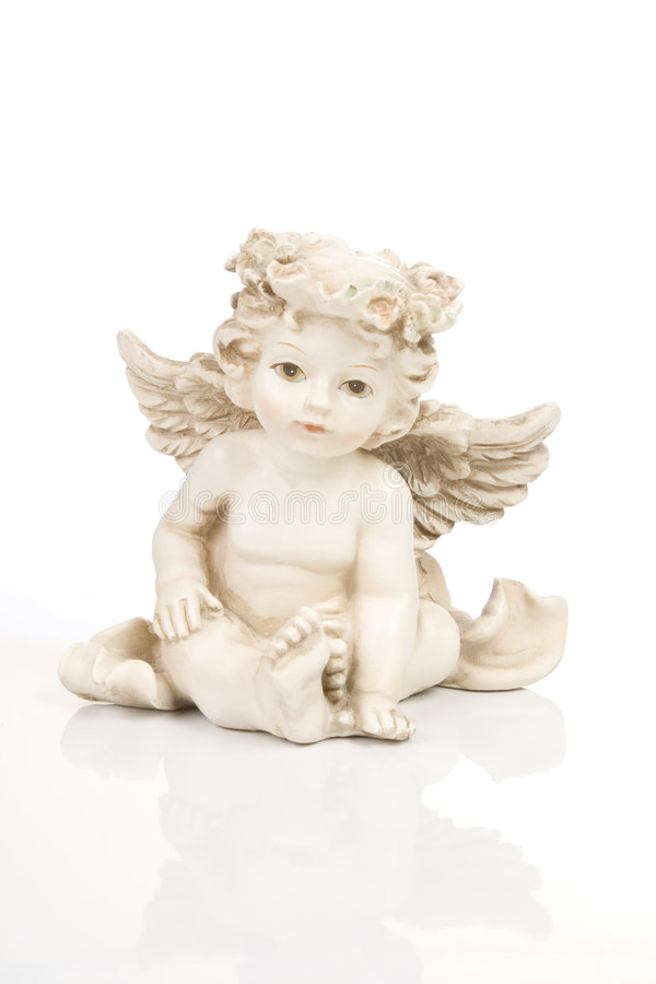 Figurine little angel royalty free stock images