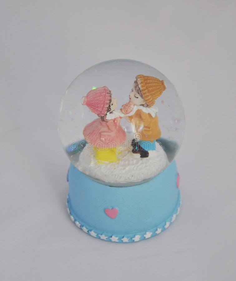 Figurine lovers, lovers, gift, ball with figures, holiday, love, dream, fairy tale royalty free stock images