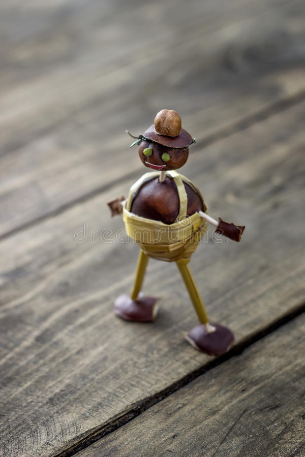Free Figurine Made Of Chestnuts Stock Photography - 60375712