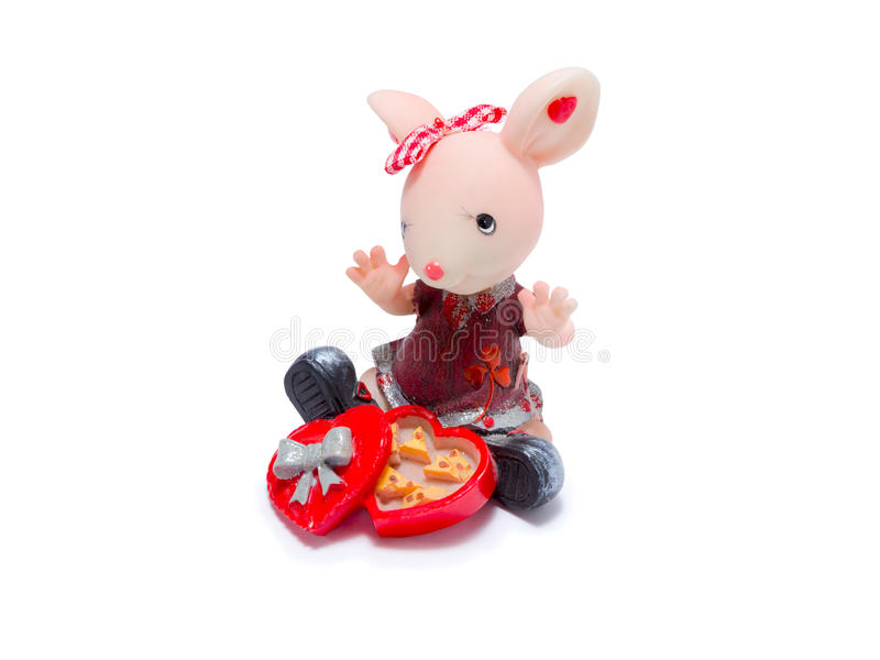 Figurine of a mouse stock photos