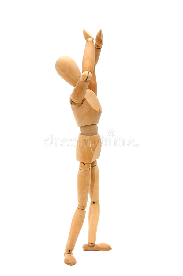 Figurine - Protect my head royalty free stock images