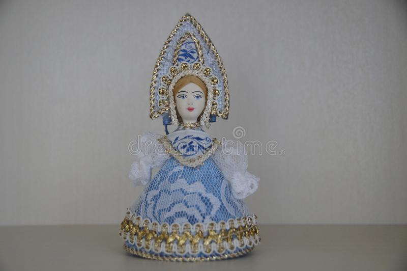 A figurine of a Russian Snow Maiden. stock photos