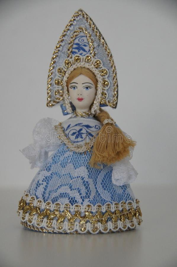 A figurine of a Russian Snow Maiden. royalty free stock photo
