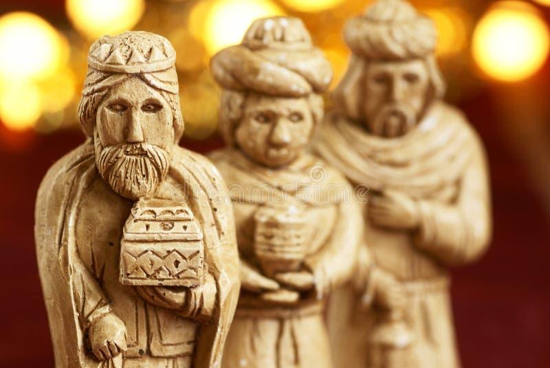 Figurines сцены рождества стоковая фотография rf