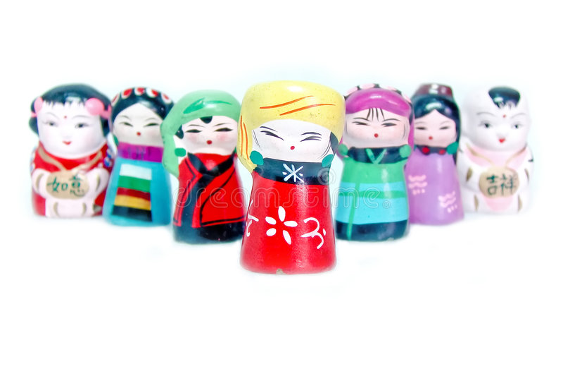 Figurines chinoises photo libre de droits