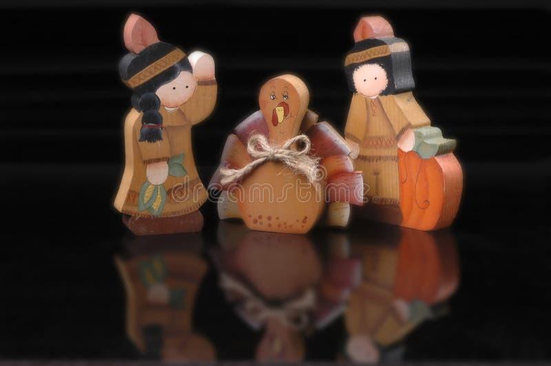 Figurines da acção de graças foto de stock