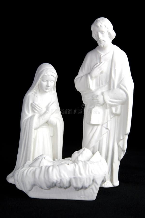 Figurines da natividade imagem de stock
