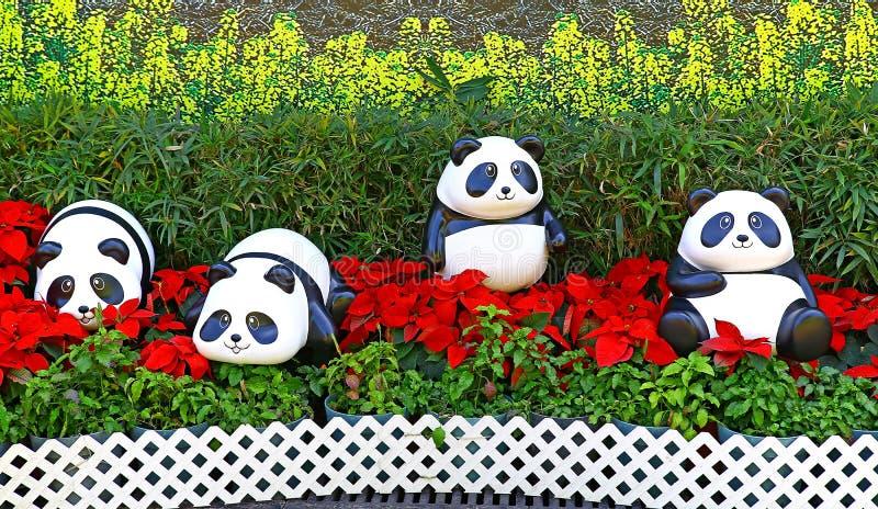 Figurines de panda de bébé photos libres de droits