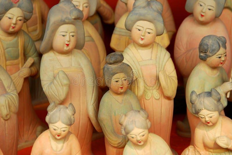 Figurines di terracotta immagine stock