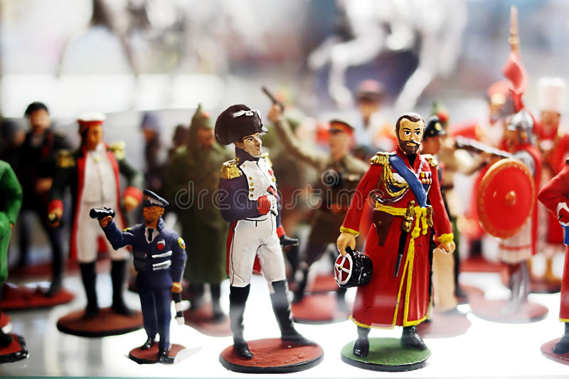 Figurines of famous characters royalty free stock photo