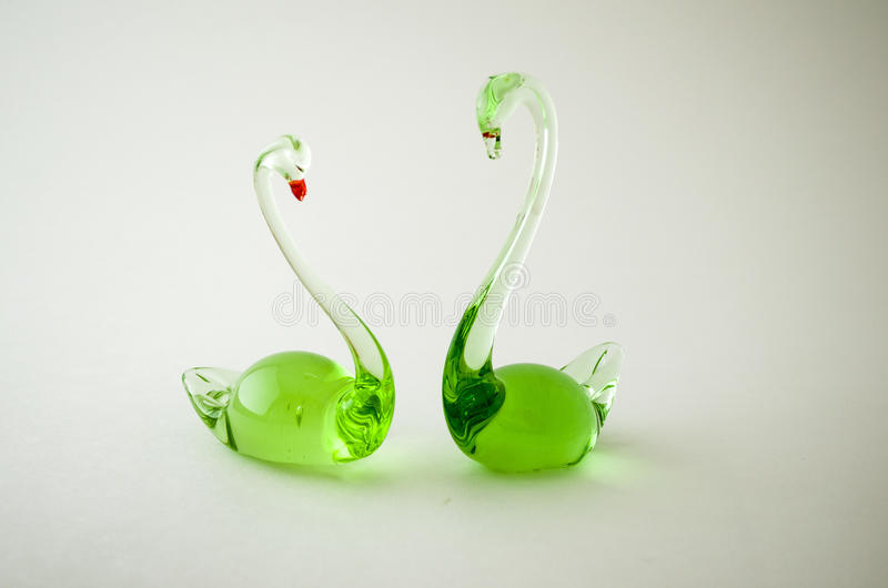 Figurines made of glass. stock image