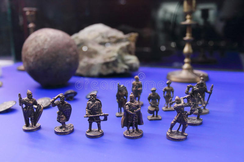 Figurines miniatures des guerriers images stock