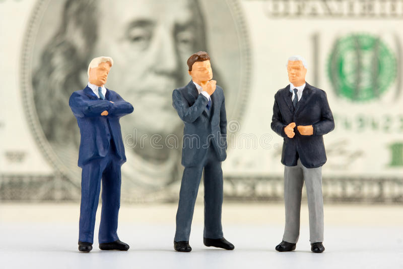 Figurines of successful business team royalty free stock photography