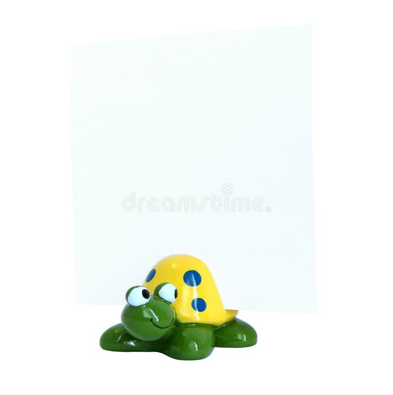 figurka ceramiczny żółw zdjęcie royalty free