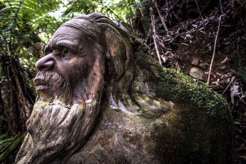 Figurka w lesie Dandenong pasma górskie Melbourne Australia William Ricketts obrazy stock