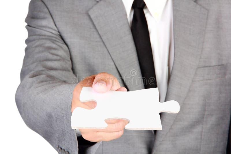 Figursåg för affärsmaninnehavmellanrum arkivfoton